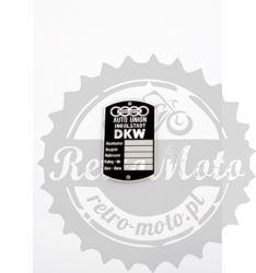 Tabliczka znamionowa DKW INGLOSTADT 250 VS KS