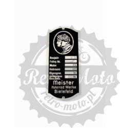 Tabliczka znamionowa HERCULES MEISTER Z logo