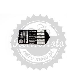 Tabliczka znamionowa CeZet 220 Považské strojárne