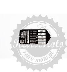 Tabliczka znamionowa CeZet 223 Považské strojárn 1