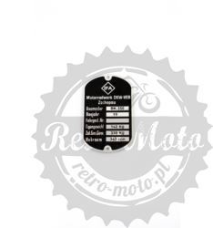 Tabliczka znamionowa IFA BK 350 DKW-VEB ZSHOPAU