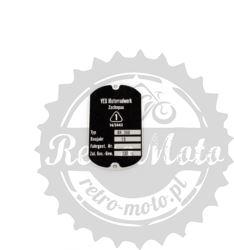 Tabliczka znamionowa IFA BK 350 stary typ