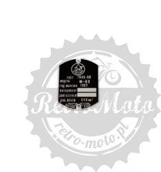 Tabliczka znamionowa URAL M63 M-63 ZZZR CCCP