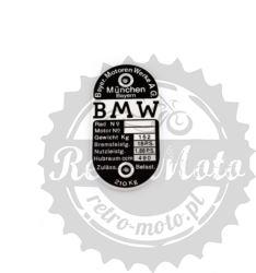 Tabliczka znamionowa BMW R 18PS 490CCM3 WAGA 210KG