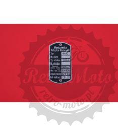 Tabliczka znamionowa OSA M50