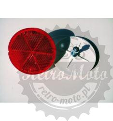 Odblask CZERWONY fi60 okrągły ze śrubką HOMOL. E20