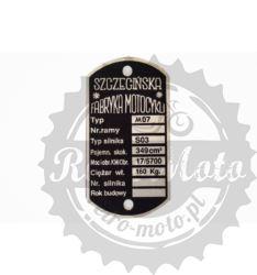 Tabliczka znamionowa SFM M07