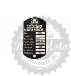 Tabliczka znamionowa SFM M10